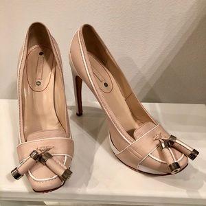 Celine leather platform loafer pump w. Tassel 39.5